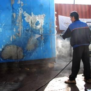 رنگ بری دیوار با کاروش صنعتی