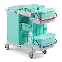 سطل های رنگی ترولی بیمارستانی