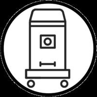 جنس و ساختار بدنه دستگاه جاروبرقی صنعتی