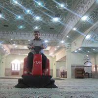 نظافت فرش امکان مذهبی با سوییپر