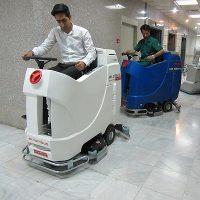 اسکرابر و سوییپر در نظافت مراکز درمانی