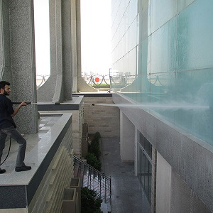 شستشوی نمای ساختمان با واترجت صنعتی