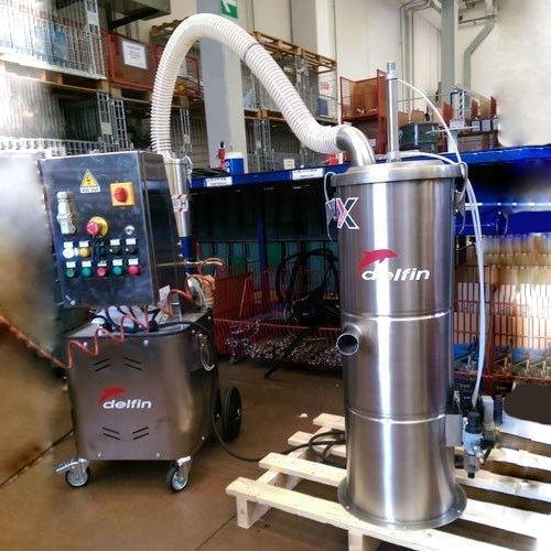 انتقال پنوماتیک با جاروبرقی صنعتی