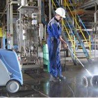 شستشوی تجهیزات با واترجت صنعتی