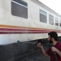 شوینده پرفشار و شستشو قطار