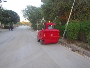سوییپر پارکینگ و محوطه - شرکت ابراهیم
