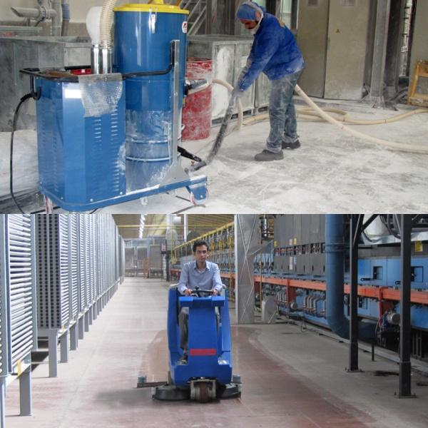 تجهیزات نظافتی صنایع کاشی و سرامیک