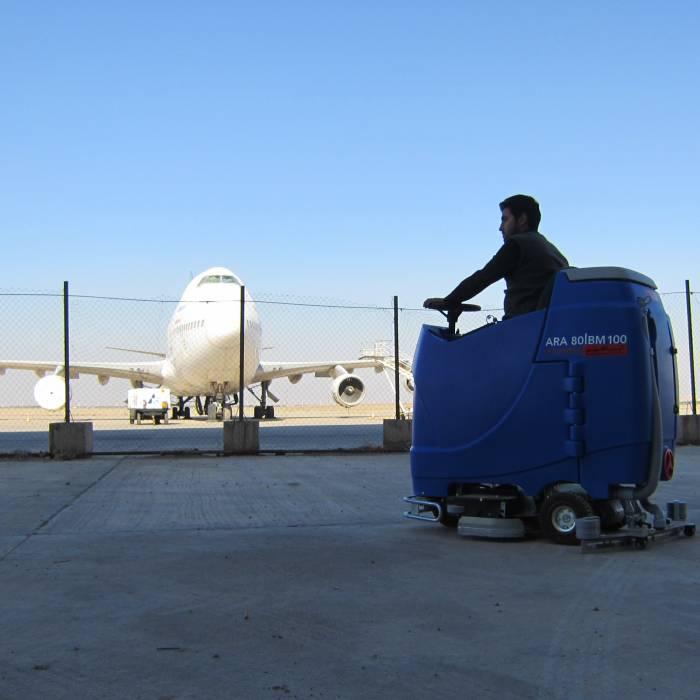 اسکرابر در فرودگاه مهرآباد