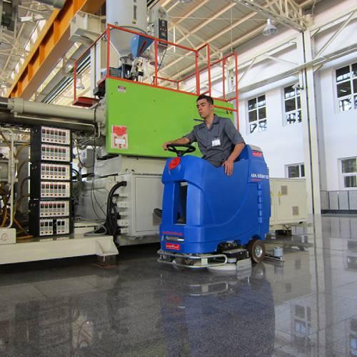 نظافت سطوح سالن تولید با زمین شوی صنعتی