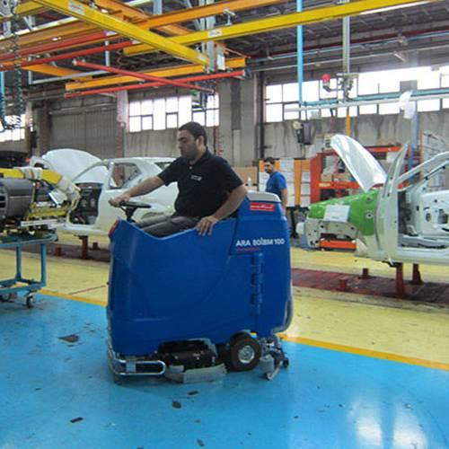 سهولت نظافت خط تولید با تجهیزات نظافت مکانیزه صنعتی