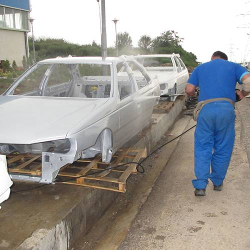 شستشو و نظافت تجهیزات خط تولید با واترجت صنعتی