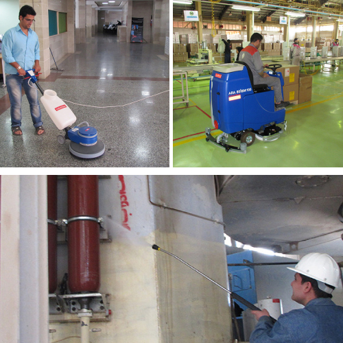 انواع تجهیزات مکانیزه نظافت صنعتی