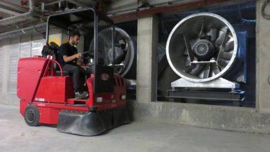 ماشین سوییپر نظافت صنعتی