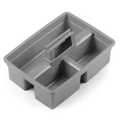 سبد حمل ابزار نظافتی سه بخشی  - Plastic carry basket