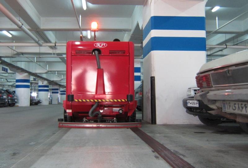 نظافت و شستن پارکینگ با دستگاه سوییپر اسکرابر
