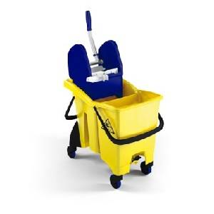 TWICE SPLIT TROLLEY WITH PRESS WRINGER  - TWICE SPLIT TROLLEY WITH PRESS WRINGER - TWICE SPLIT 0000