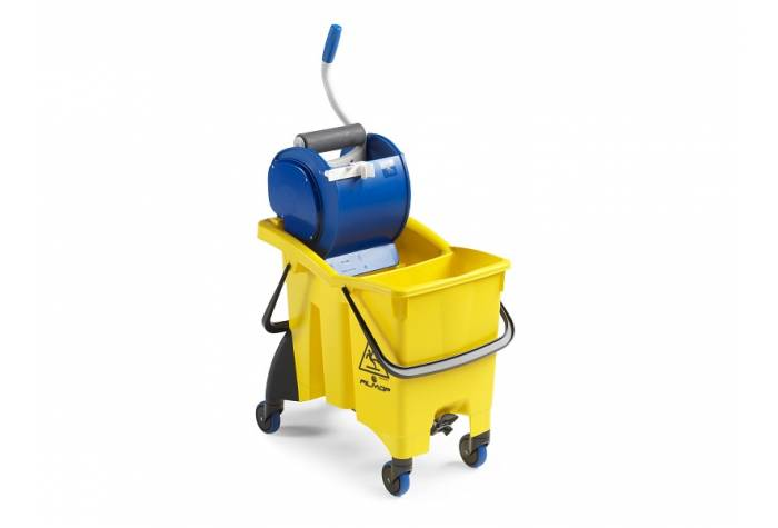 TWICE SPLIT TROLLEY WITH ROLLER WRINGER