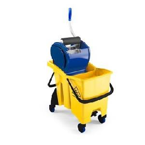 ترولی دو مخزنی با آبگیر رولی  - TWICE SPLIT TROLLEY WITH ROLLER WRINGER - TWICE SPLIT 0022