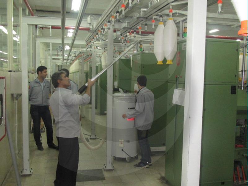 جاروبرقی تخصصی صنعت نساجی با نازل تخت