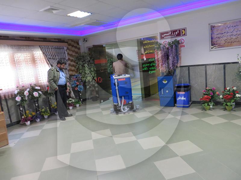 نظافت بیمارستان با اسکرابر