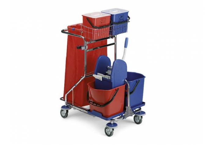 SMART TROLLEY with press wringer for cleaning