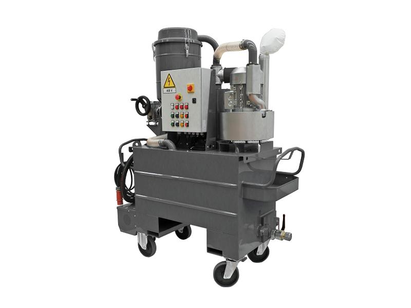 جاروبرقی صنعتی تخصصی مکش مواد مایع و جامد Tecnoil700T110