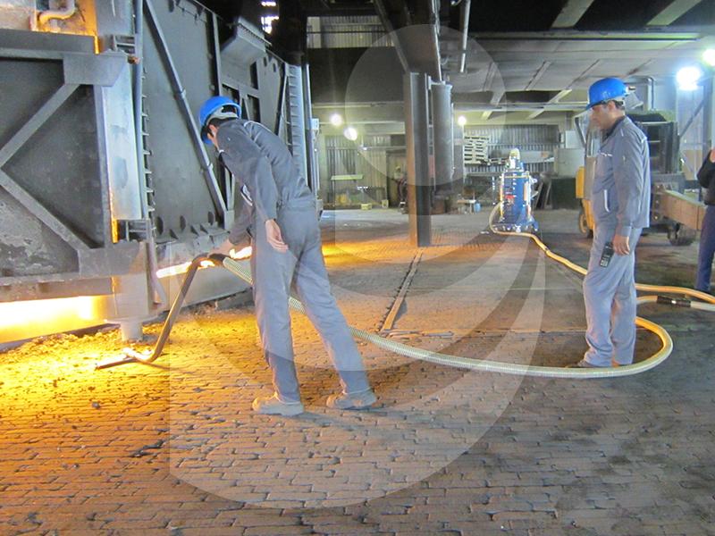 نظافت صنایع فولاد با جاروبرقی ضد انفجار DM30ECOZ22