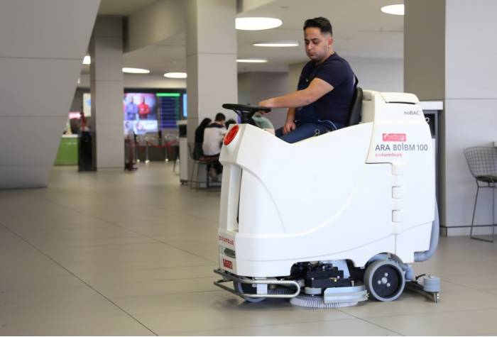 floor scrubber for hospital