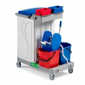 سطل دو قلو  - MULTIPURPOSE TROLLEY ALPHASPLIT - ALPHASPLIT
