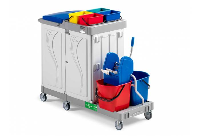 ترولی چند منظوره ALPHA 8104 جهت شستشو و نظافت عمومی