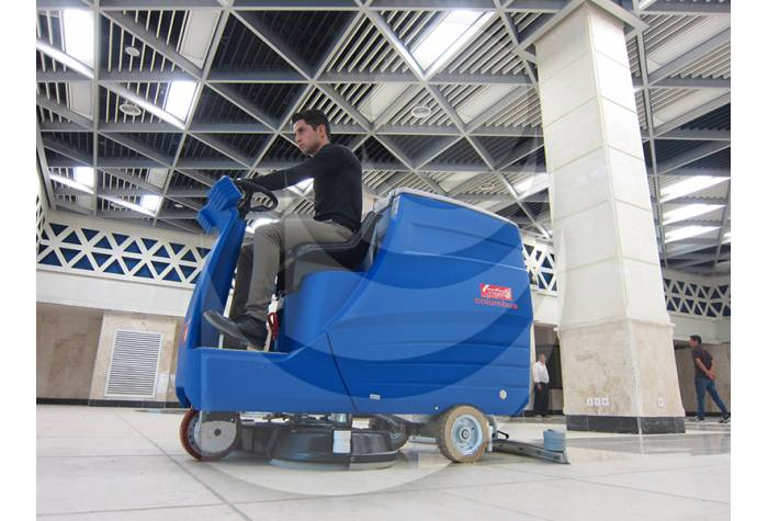 large commercial centers with high capacity scrubber
