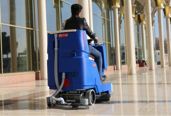 floor scrubber for airport