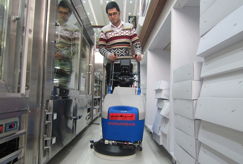 نظافت محیط بسته با زمین شوی صنعتی RA35B10