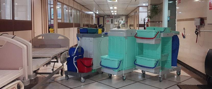 ترولی نظافتی  بیمارستانی