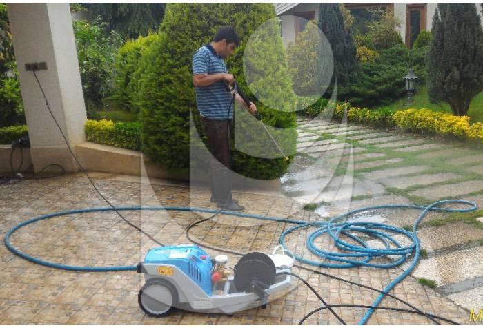 واترجت K1152TST قابل کاربرد در عملیات شستشوی سنگفرش محیط های مسکونی