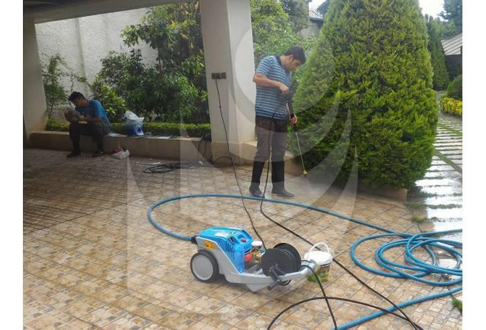 شستشو باغ با دستگاه واترجت K1152TST