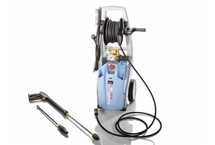 واتر جت صنعتی K2160TST مجهز به قرقره شلنگ فشار قوی یکپارچه با دستگاه