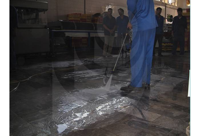 Industrial cold water to wash the floor with water jet K2195 TST