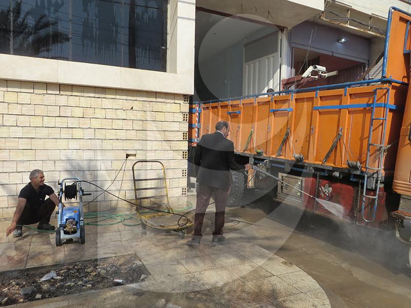شستشو کامیون با واترجت Q 800 TST یک کارواش مناسب ماشین سنگین