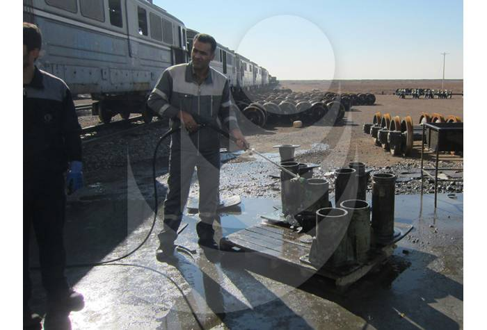 railway washing with hot water industrial waterjet T 895-1