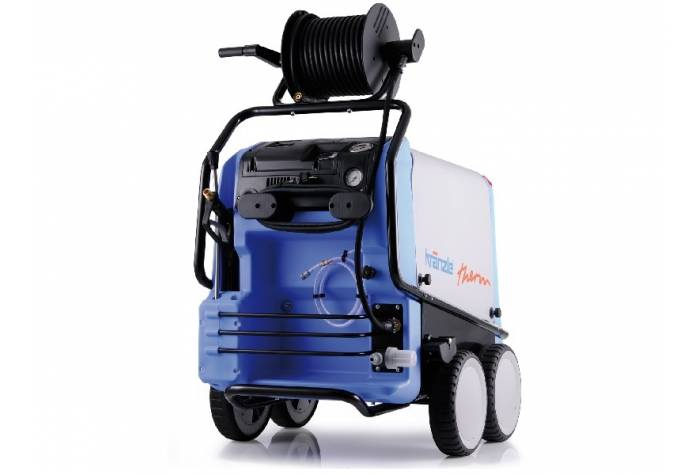 kranzle therm 895-1 hot water high-pressure cleaner with diesel burner and vertical flame