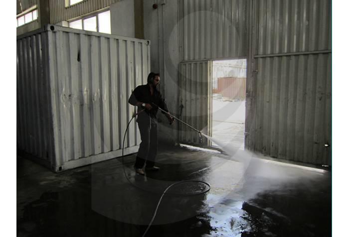 شستشو کارخانه صنعتی با استفاده از واتر جت صنعتی آب گرم E 400