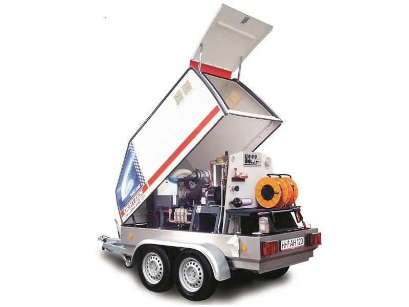 واترجت آب گرم و تریلر Power trailer 500/30 دارای مخزن اب 350 لیتر