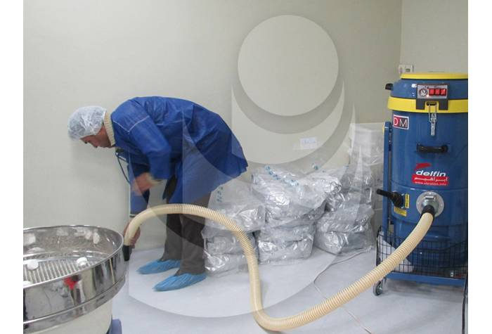 semi-industrial vacuum cleaner for cleaning  the surfaces in pharmacy industry