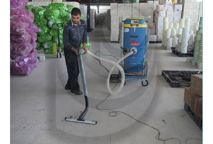 vacuum cleaner - cleaning the warehouse