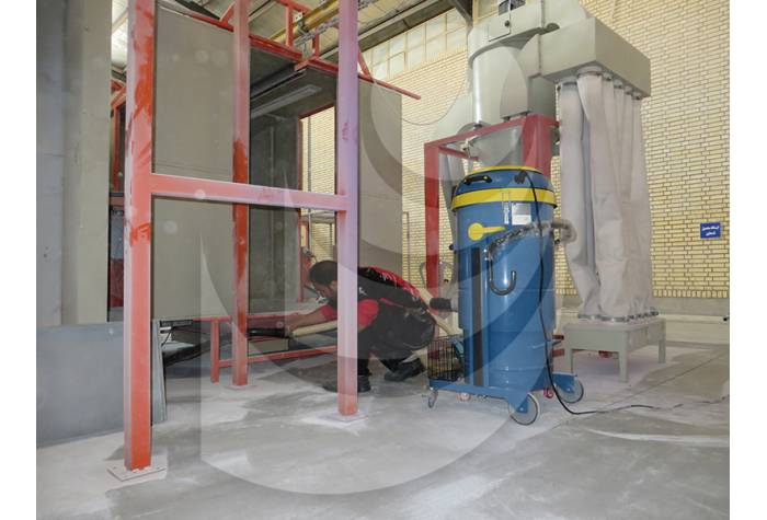 removing waste and dirt from places with difficult access by industrial vacuum cleaners