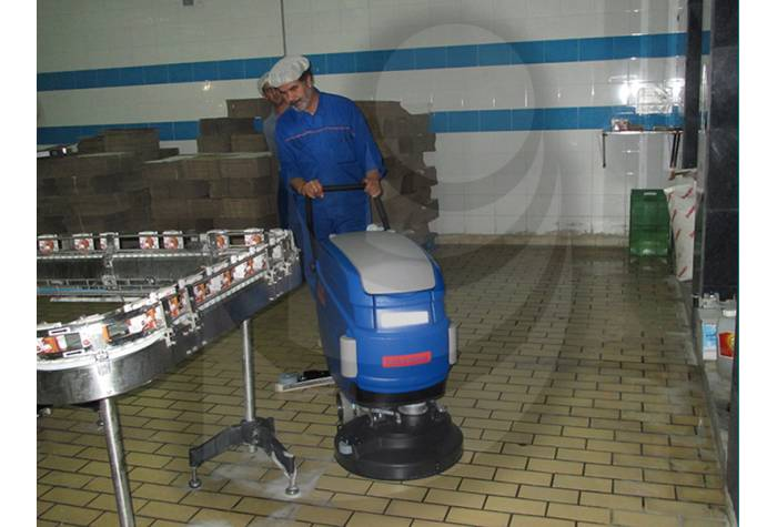 cleanliness of food industry with scrubber