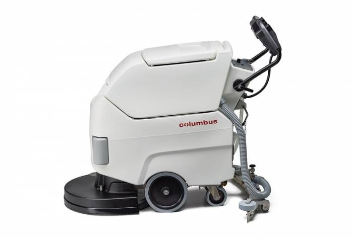 disinfect surface with antibacterial scrubber dryer