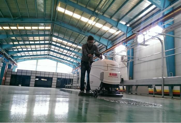 industrial floor scrubber no bac